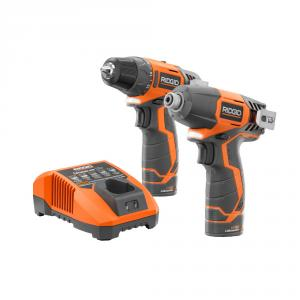 RIDGID 12 Volt Lithium-Ion Drill/Driver and Impact Driver Kit