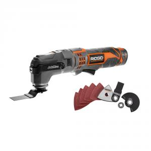 RIDGID JobMax 12 Volt Lithium-Ion Multi-Tool with Tool-Free Head
