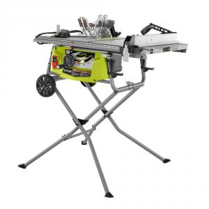 RYOBI 15 Amp 10 in. Expanded Capacity Table Saw With Rolling Stand